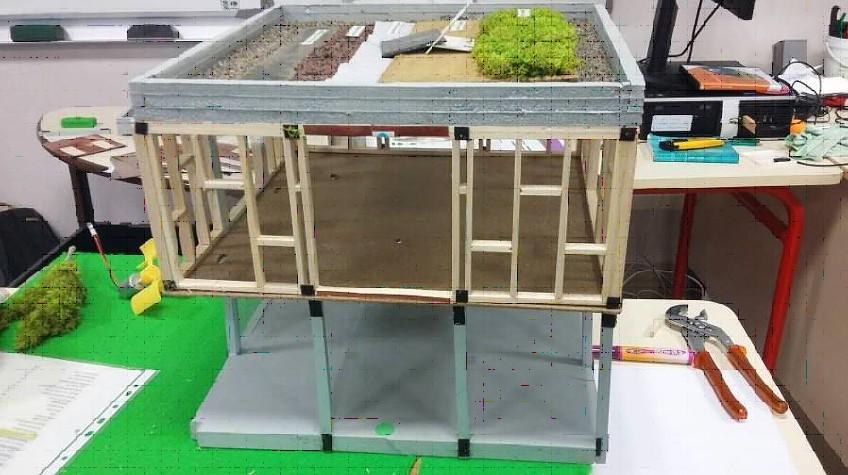 Maquette maison bioclimatique